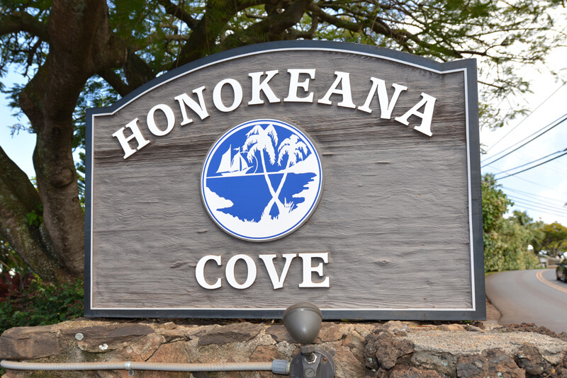 Honokeana Cove sign
